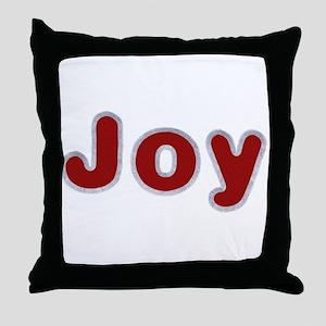 Joy Santa Fur Throw Pillow