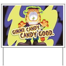 Garfield Gimme Candy Yard Sign