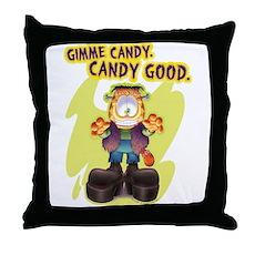 Garfield Gimme Candy Throw Pillow