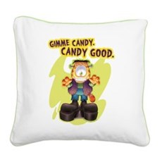 Garfield Gimme Candy Square Canvas Pillow