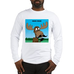 Moose-Stache Long Sleeve T-Shirt