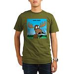 Moose-Stache Organic Men's T-Shirt (dark)