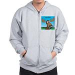 Moose-Stache Zip Hoodie