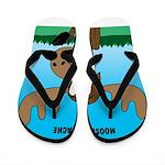 Moose-Stache Flip Flops
