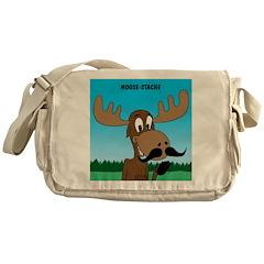 Moose-Stache Messenger Bag
