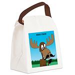 Moose-Stache Canvas Lunch Bag
