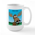 Moose-Stache Large Mug