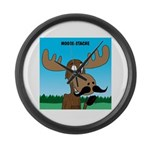 Moose-Stache Large Wall Clock
