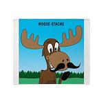 Moose-Stache Throw Blanket