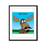 Moose-Stache Framed Panel Print