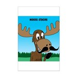 Moose-Stache Mini Poster Print