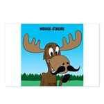 Moose-Stache Postcards (Package of 8)