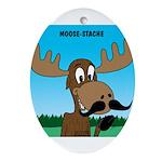 Moose-Stache Ornament (Oval)