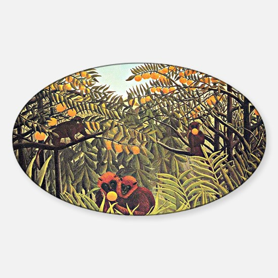Henri Rousseau - Apes in the Orange Sticker (Oval)