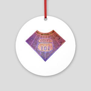 Coast Hwy 101 Ornament (Round)