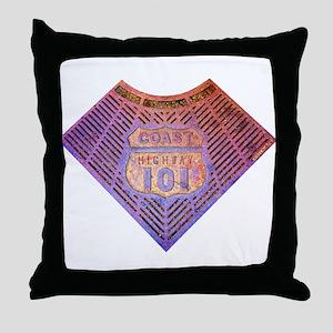 Coast Hwy 101 Throw Pillow