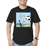 Scout Meets Cow Men's Fitted T-Shirt (dark)