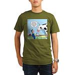 Scout Meets Cow Organic Men's T-Shirt (dark)