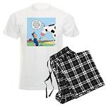Scout Meets Cow Men's Light Pajamas