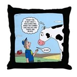 Scout Meets Cow Throw Pillow