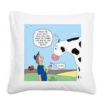 Scout Meets Cow Square Canvas Pillow