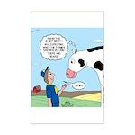 Scout Meets Cow Mini Poster Print