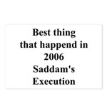 Saddam's Execution Best Thing in 2006 Postcards (