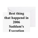 Saddam's Execution Best Thing in 2006 Greeting Ca