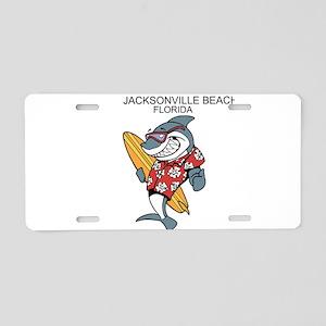 Jacksonville Beach, Florida Aluminum License Plate