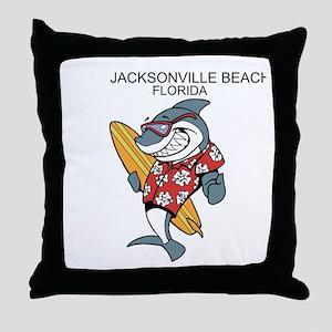 Jacksonville Beach, Florida Throw Pillow