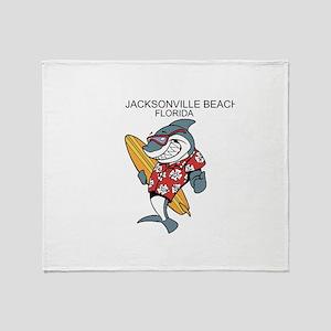 Jacksonville Beach, Florida Throw Blanket