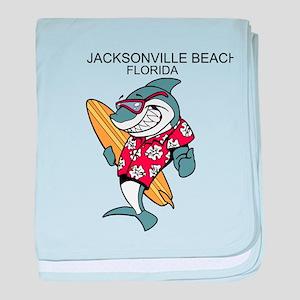 Jacksonville Beach, Florida baby blanket