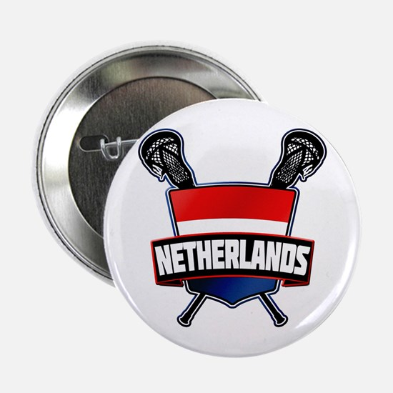 "Dutch Nederland Lacrosse Logo 2.25"" Button"