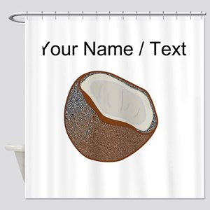 Custom Coconut Shell Shower Curtain