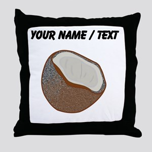 Custom Coconut Shell Throw Pillow