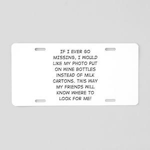 Wine Bottle Missing Aluminum License Plate