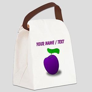 Custom Purple Plum Canvas Lunch Bag