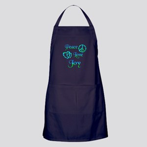 Peace Love Joy Apron (dark)