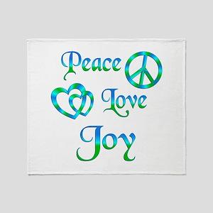 Peace Love Joy Throw Blanket
