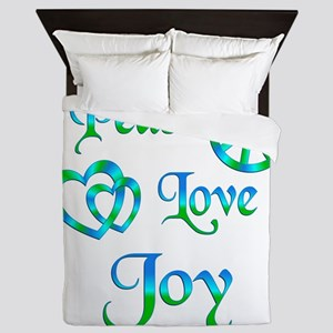 Peace Love Joy Queen Duvet