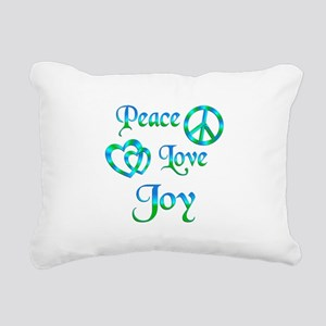 Peace Love Joy Rectangular Canvas Pillow