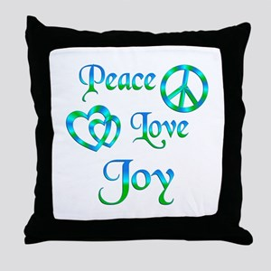 Peace Love Joy Throw Pillow
