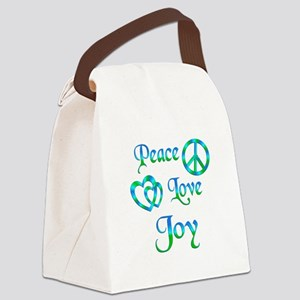 Peace Love Joy Canvas Lunch Bag