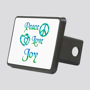 Peace Love Joy Rectangular Hitch Cover