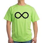 Infinity Symbol Math Notation Green T-Shirt