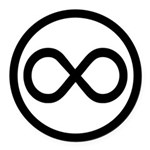 Infinity Symbol Math Notation Round Car Magnet