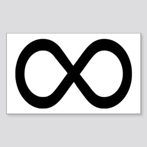 Infinity Symbol Math Notation Sticker (Rectangle)