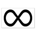Infinity Symbol Math Notation Sticker (Rectangle)