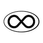 Infinity Symbol Math Notation Oval Car Magnet