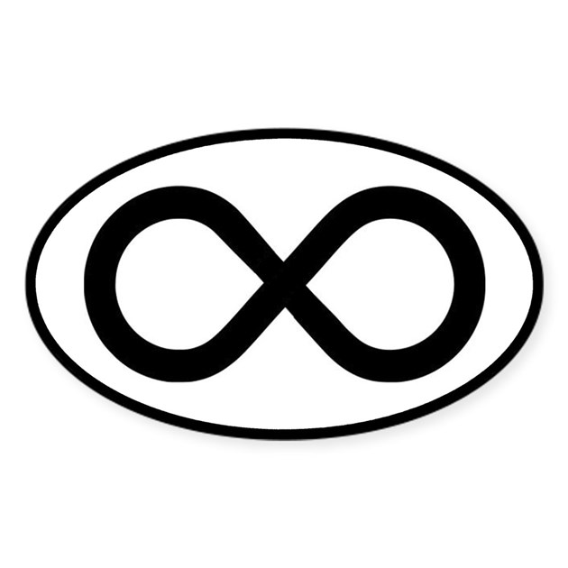 Infinity Symbol Math Notation Sticker Oval By Teeshirtshoppe